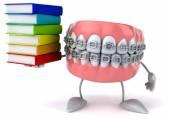 Teeth with books — Fotografia Stock