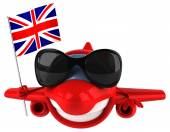 Fun plane with British flag — Stockfoto