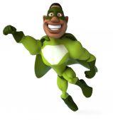 Fun man in superhero costume — Stock Photo
