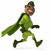 Fun man in superhero costume — Стоковое фото