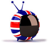 Television with colors of British flag — Stockfoto