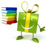 Fun gift with books — Stock Photo