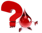 Blood drop with question mark — Stock Photo