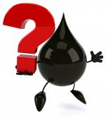 Oil drop with question mark — Stock Photo