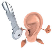 Fun ear with key — Zdjęcie stockowe