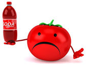 Fun cartoon tomato — Stock Photo
