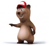 Fun bear in a cap — Stock Photo