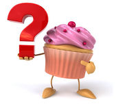 Cupcake with question mark — Foto de Stock
