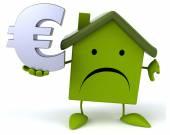 Fun house with euro sign — Stock Photo