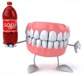 Весело зубы содой — Стоковое фото