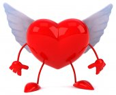 Fun heart with wings — Stock Photo