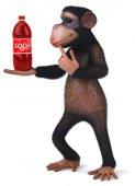 Fun monkey with soda — ストック写真