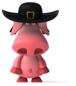 Fun pig in hat — ストック写真