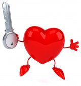 Fun cartoon heart — Stock Photo