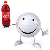 Golf ball with soda — Stock Photo