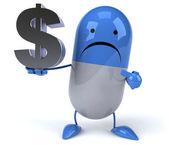 Cartoon pil met dollarteken — Stockfoto