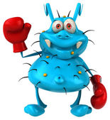 Fun germ in boxing gloves — Photo