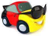 Fun cartoon car — Zdjęcie stockowe