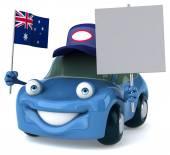 Fun car with Australian flag — Stock Photo
