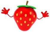 Fun cartoon strawberry — Stock Photo
