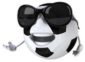 Fun football ball in sunglasses — Photo