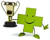 Pharmacy with golden trophy — Fotografia Stock
