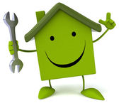House with wrench — Stock Photo