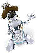 Fun cartoon robot — Stock Photo
