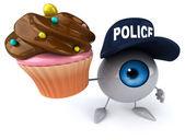 Fun eye with cupcake — Stock Photo
