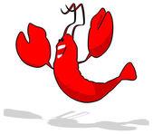 Fun cartoon lobster — Foto de Stock