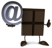 Chocolate with email sign — Stock Photo