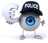 Fun eye with euro sign — Stock Photo