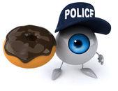 Fun eye with donut — Stock Photo