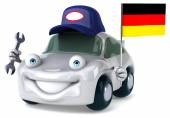 Fun car with flag of Germany — Stock Photo