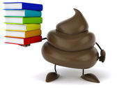 Fun poop with books — Stock Photo