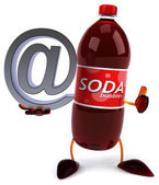 Soda bottle with email symbol — Zdjęcie stockowe