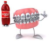 Denti del fumetto di divertimento — Foto Stock