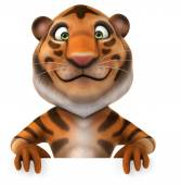 Leuke cartoon tijger — Stockfoto