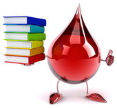 Blood drop with books — Stock Photo
