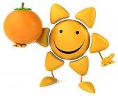 Fun sun with orange — Stock Photo