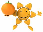 オレンジ色の楽しい日 — ストック写真