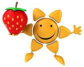 Fun sun with strawberry — Stock Photo