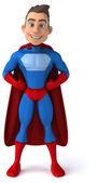 Fun young man superhero — Stock Photo