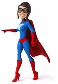 Fun female superhero — Foto de Stock