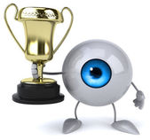 Fun eye  with golden cup — Stock Photo