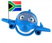 Fun plane with flag — Stock Photo