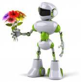 Robot çiçekli — Stok fotoğraf