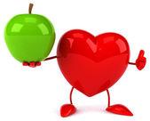 Fun heart with an apple — Stock Photo