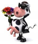 Fun cartoon cow — Stock Photo