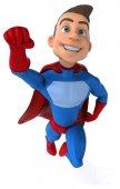 Eğlenceli genç süper kahraman — Stok fotoğraf